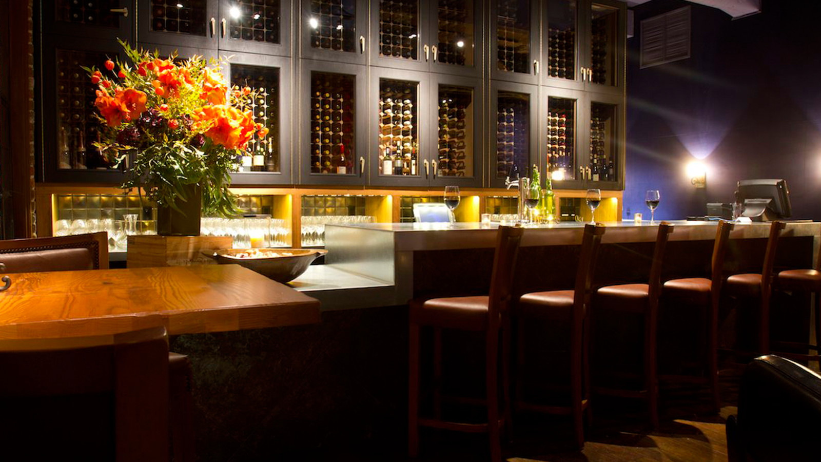 Interior view of the Hidden Vine Wine bar