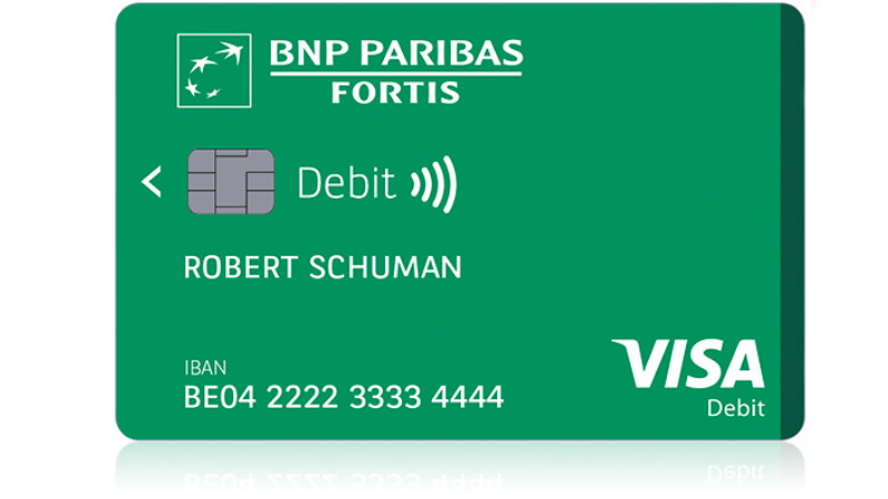 BNP PARIBAS FORTIS debit card
